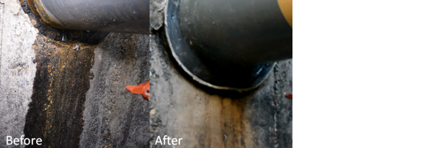before and after of pit flooding protection