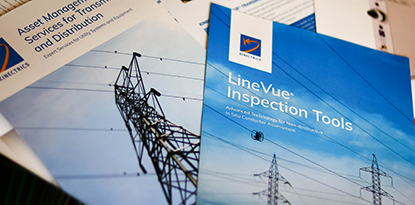 3 brochure covers of Kinectrics services
